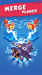 Merge Plane - Click & Idle Tycoon скриншот игры